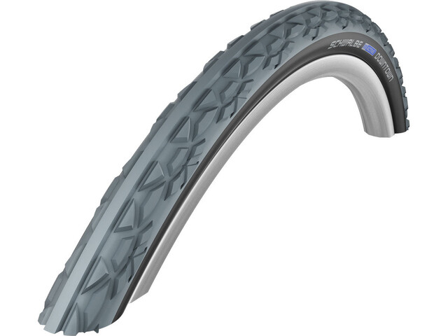 "SCHWALBE Downtown Clincher Tyre 24x1.00"" for Wheelchair, grey/black"